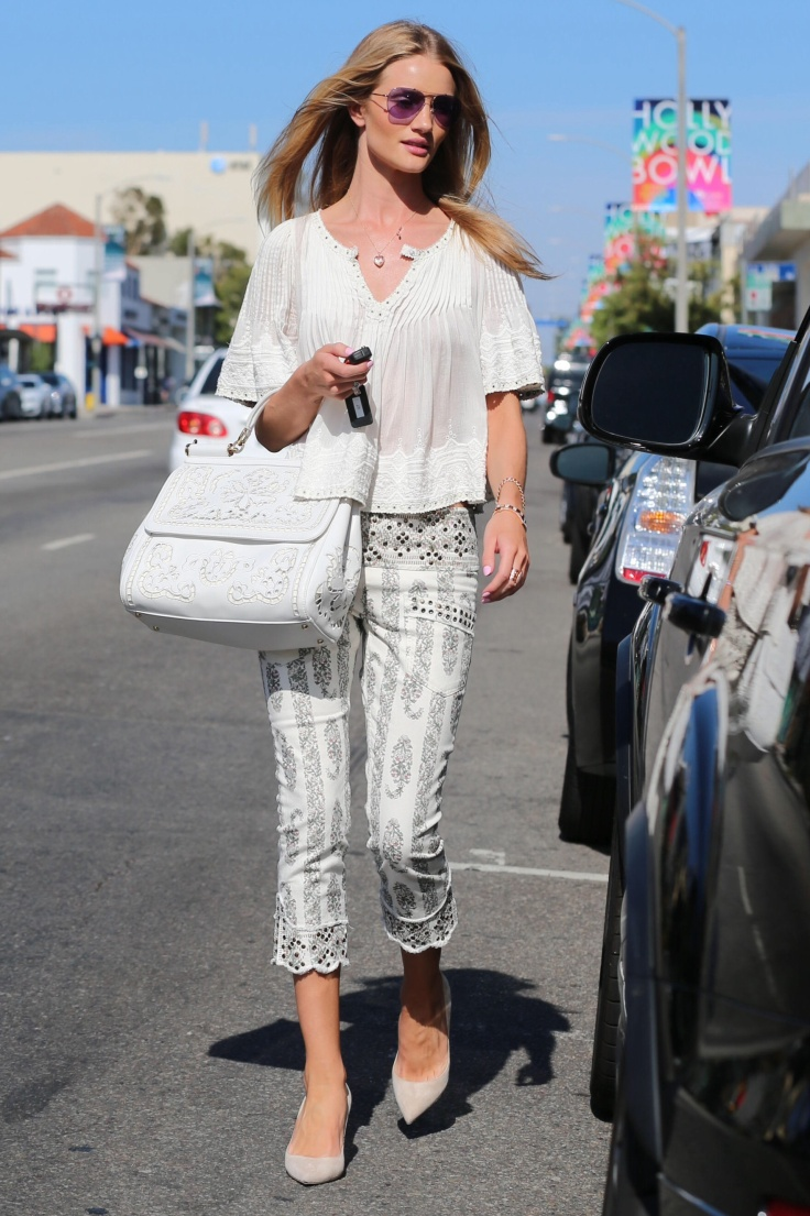 Rosie Huntington-Whiteley shops for clothing